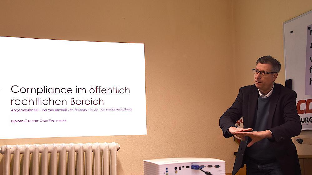 Veranstaltung der CDU zum Thema Compliance in Verwaltungen