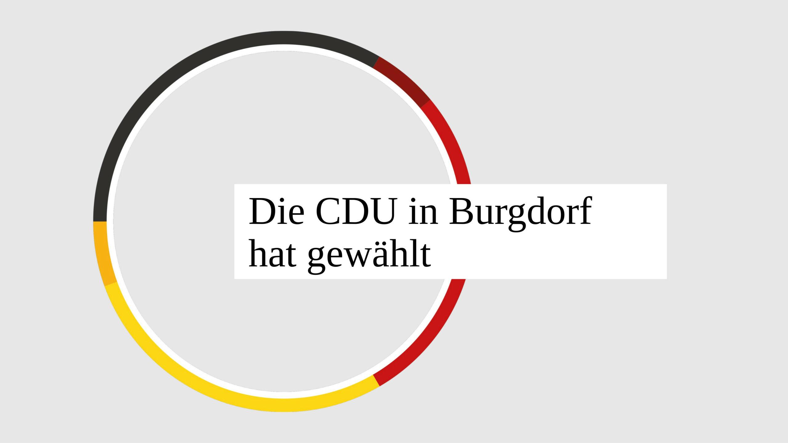 Die CDU in Burgdorf hat gewählt
